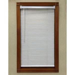 home depot mini blinds white cordless 1 in mini blind 32 in w x 64 in l 6