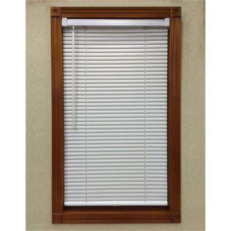 white cordless 1 in mini blind 32 in w x 64 in l 6