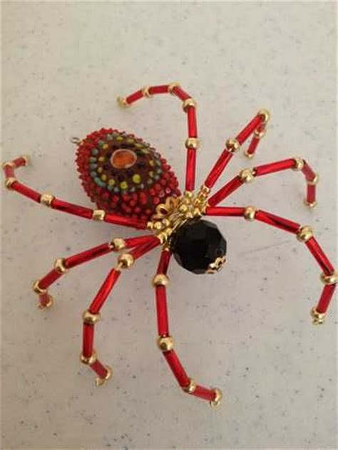 beaded spider these beautiful ornate spiders are made of glass