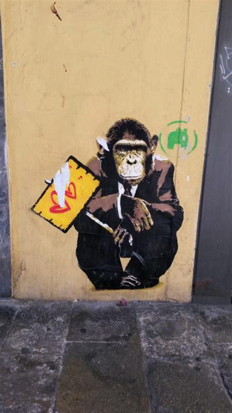 funky monkey street art custom wallpaper