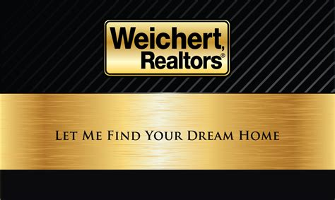 realtors business cards black weichert realtors business card design 115031