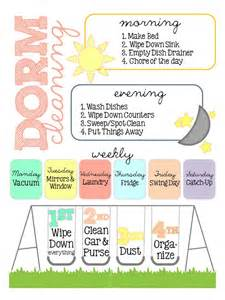 my dorm cleaning schedule happily hope