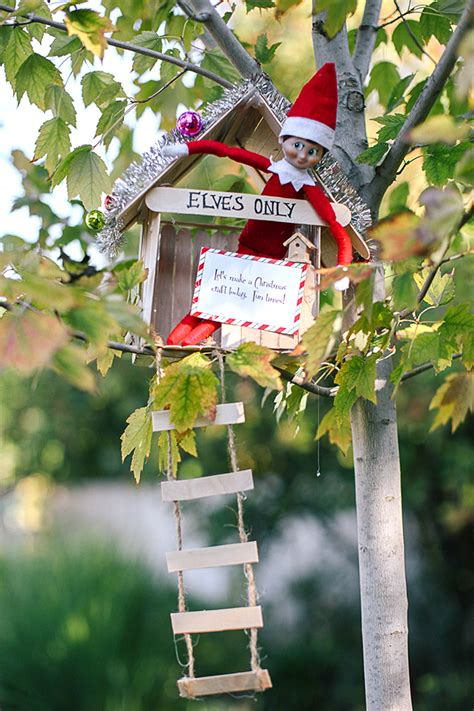 elf house on a tree elf on the shelf ideas elf printables survival guide