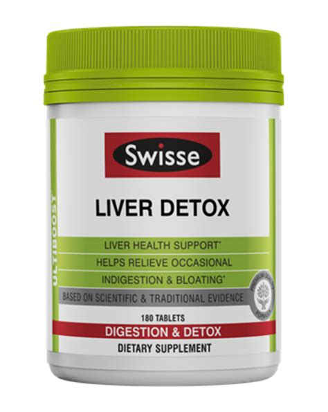 Vitamins For Detoxing The by Swisse Swisse Ultiboost Liver Detox Digestion Detox