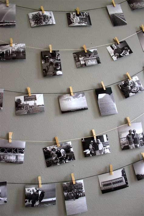 photo display clips clothespin photo wall display house ideas pinterest