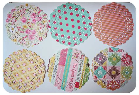 Doily Mix Pack 6 parisian lace doily mixed pattern paper pack on luulla