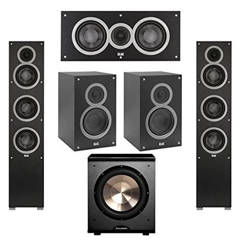 product reviews buy elac 5 1 system with 2 debut f5