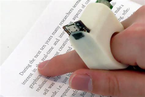 Reader For The Blind fingerreader fluid interfaces