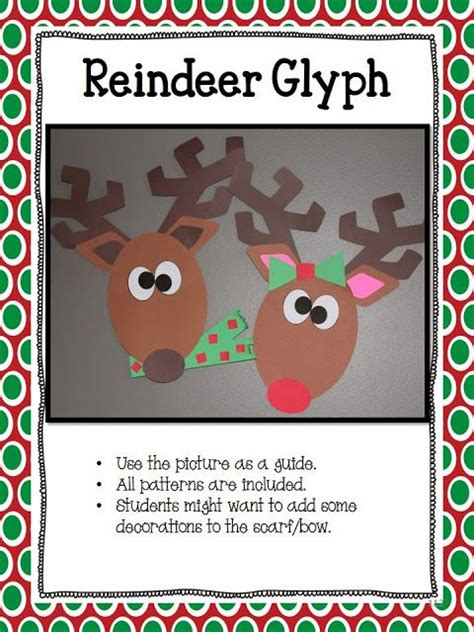 Printable Reindeer Glyph | reindeer glyph graph and questions education