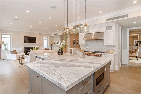 kitchen island marble 63 beautiful traditional kitchen designs designing idea