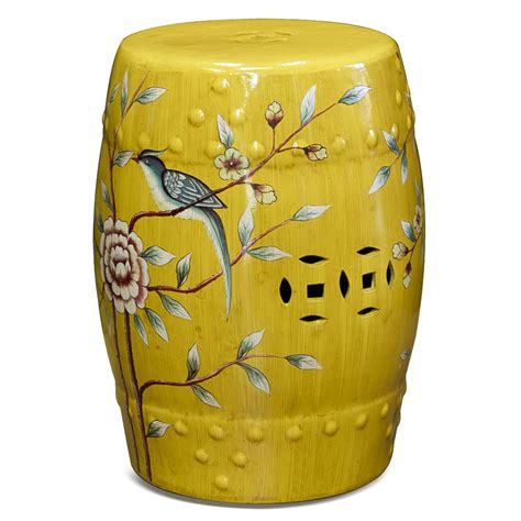 Small Ceramic Garden Stool by Porcelain Garden Stool Garden Stools Stool