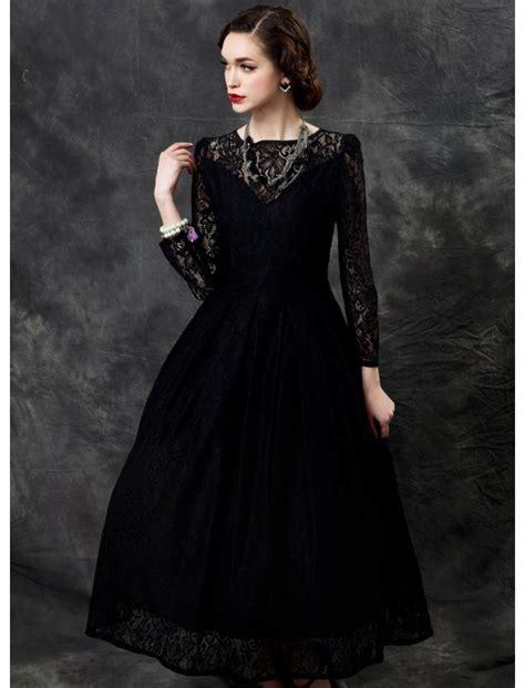 Bj 7830 Khaki Black Lace Dress Black Vintage Lace