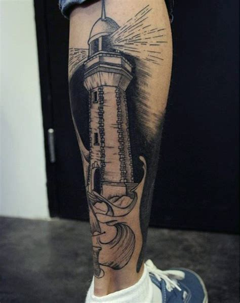 simple leg tattoos for men 26 simple calf tattoos