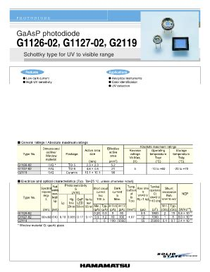 photodiode g1126 02 form g 1126 fill printable fillable blank pdffiller