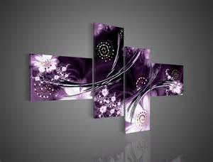 Purple Wall Decor 4 wall modern abstract fantasia purple