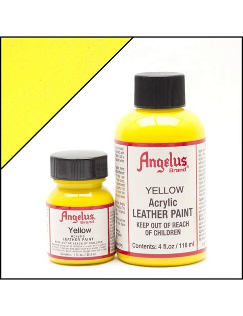 angelus paint thunder yellow angelus dyes paint yellow 1oz leather paint leather
