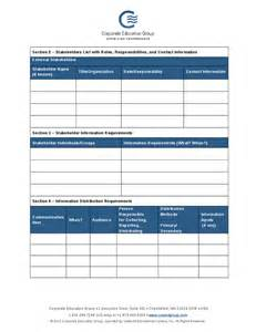 communications management plan template hashdoc