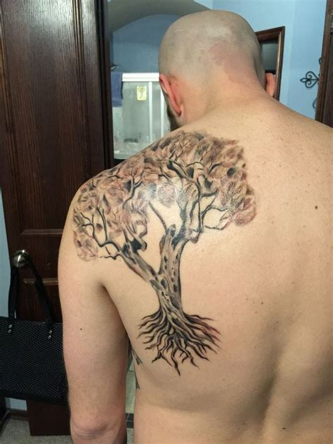 tree tattoos on back back tree creativefan
