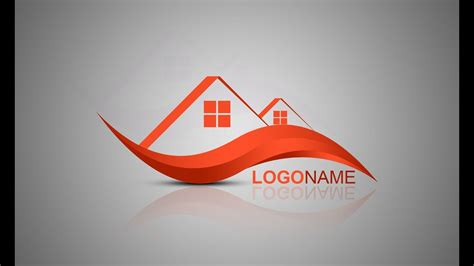 tutorial house logo photoshop tutorial logo design house builder