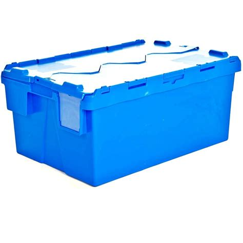 Box Container Buy 54lt Heavy Duty Attached Lid Plastic Storage Container