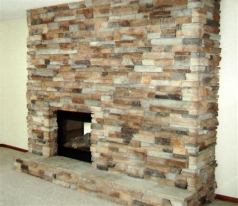 Rock Tiles For Fireplace by Fireplace