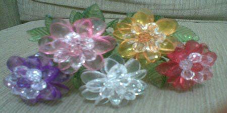 Bros Akrilik Mute 1 besthappycraft bunga aster dari mote akrilik