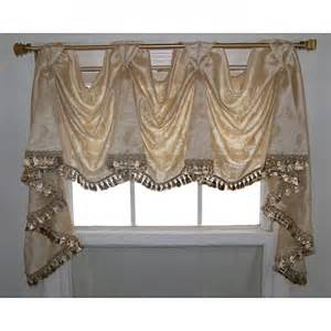 victory valance wispy leaf 3 scoop victory swag sand valance by rlf home