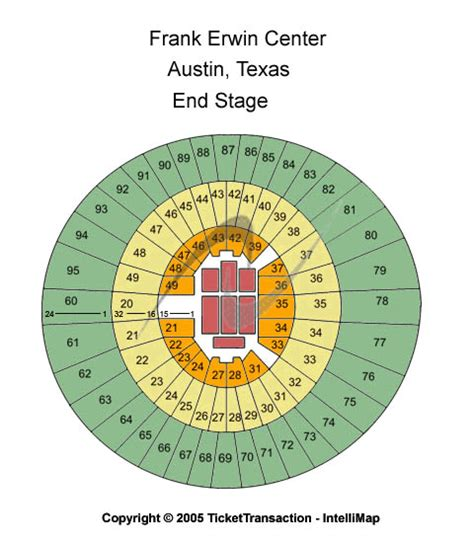 frank erwin seating capacity frank erwin center tickets year events