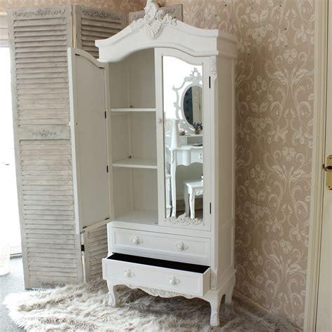 White Closet With Mirror Pays Blanc Range Furniture Bundle Antique White Closet
