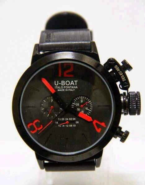 Jam Pria Automatic U Boat Italo Fontana Black Rubber Limited deryan jam tangan u boat italo fontana u1001