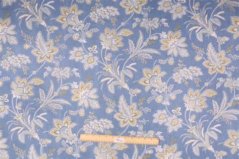 waverly curtain fabric waverly barano printed cotton drapery fabric in chambray