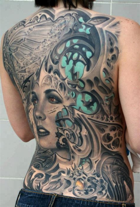 biomechanical tattoo on girl 3d tattoos and designs page 64