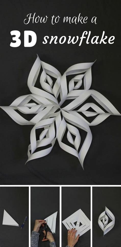 How To Make Paper Look 3d - diy snowflake paper patterns home design garden