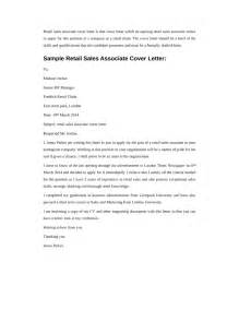 Cover Letter Retail Sales Associate by Basic Retail Sales Associate Cover Letter Sles And Templates