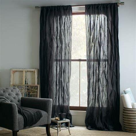 slate curtains pintuck curtain slate west elm