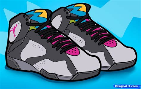 Drawing Jordans by How To Draw Air Bordeaux Air Jordans Step By Step