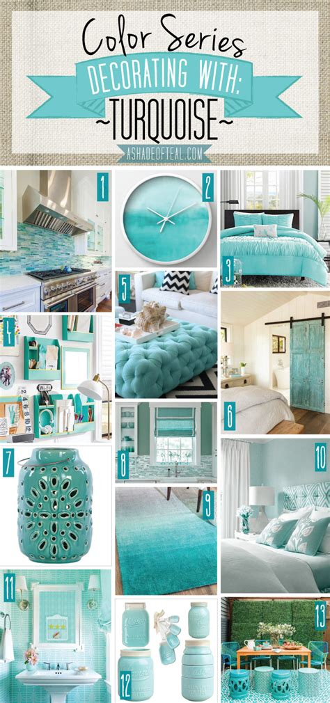 color series decorating with a shade of teal