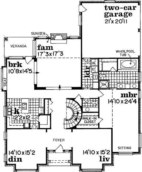 stately traditional home plan 88027sh 1st floor master