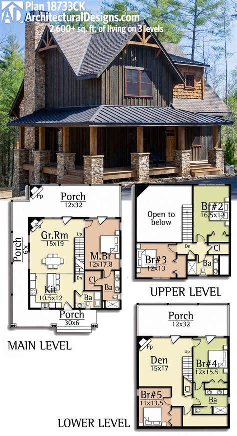 house plan small vacation home floor fantastic wood cabin