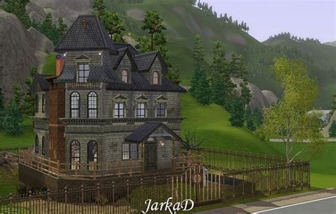 addams family house plan sims 3 house addams family house bt jarkad sims pinterest chang e 3 sims 3 and