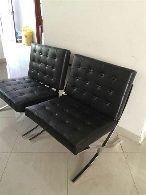 sillas acero inoxidable sillas barcelona estructura acero inoxidable y tapiz cuero