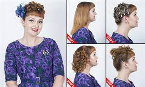 step by step how to do a 1940s updo how to do 1940s hair at home in hairdresser s step by step