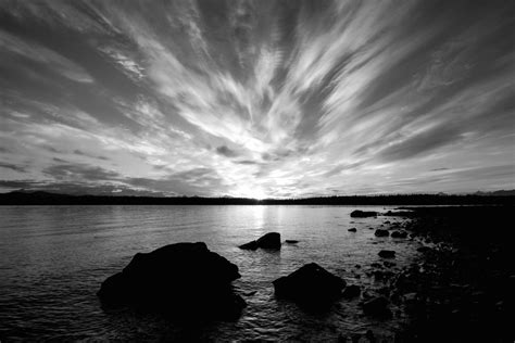 White Sunset Glacier Bay In Black And White 2016 Edition Planet Bell