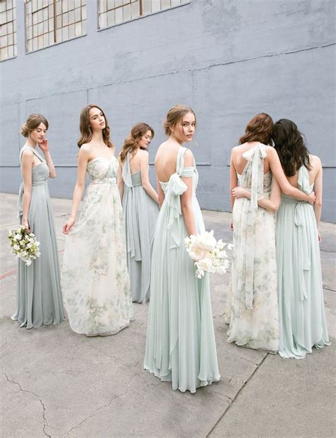 Bridesmaid Wedding Dresses by Convertible Floral Printed Mix And Match Bridesmaids