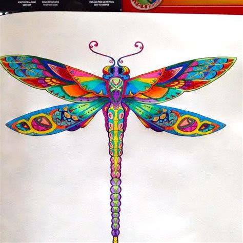 bonny rainbow color dragonfly tattoo design tattooimages biz