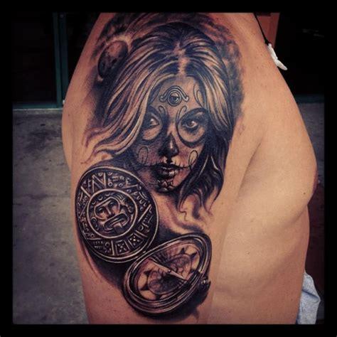 dia delos muertos tattoos for men 30 dia de los muertos tattoos on half sleeve