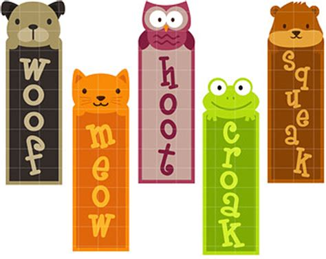 printable animal bookmarks cute animal bookmarks digital clip art for scrapbooking
