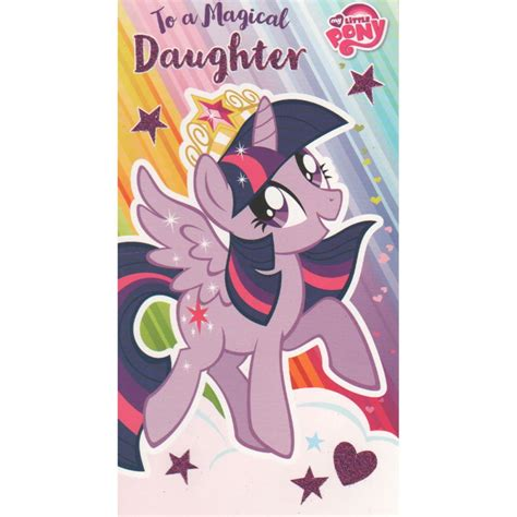 My Pony Birthday Cards My Little Pony Daughter Birthday Card Mp016 Character