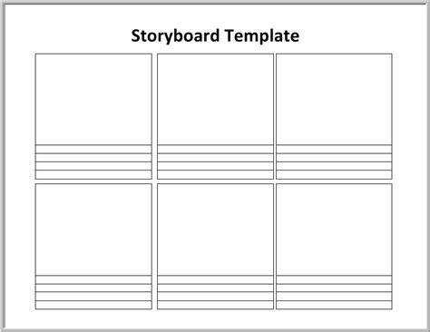 storyboard template 6 boxes graphic organizers reader s handbook ch 6 estudy guide