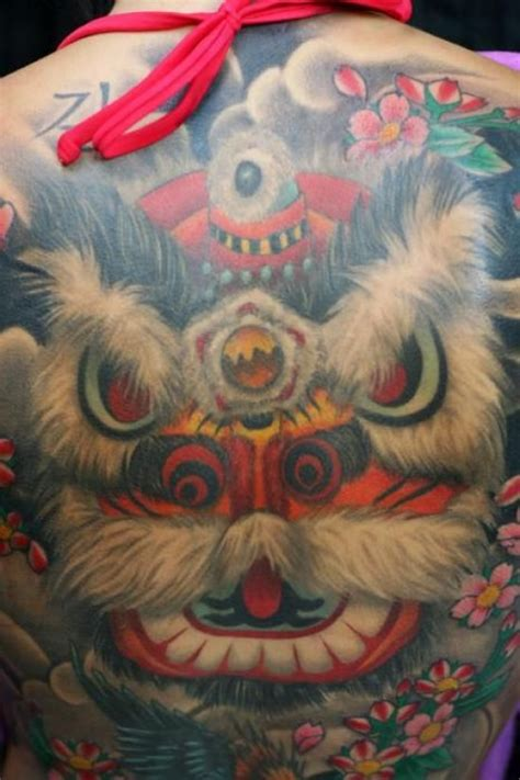 chinese lion tattoo guardian tattoos ink